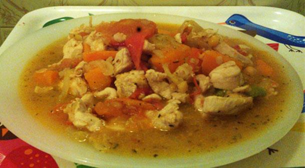 édesburgonya csirkemellel