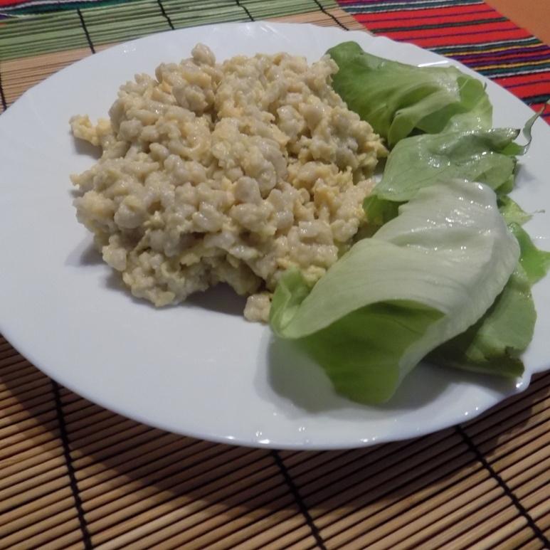 gluténmentes tojásos nokedli